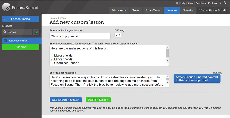 CustomLesson